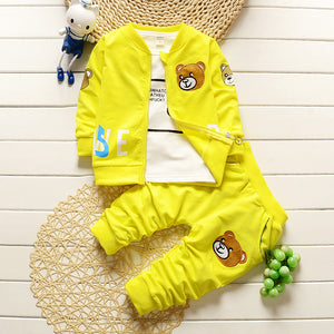 Yellow 3-piece set for baby boys