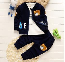 Image of 3-piece bear set for baby boys