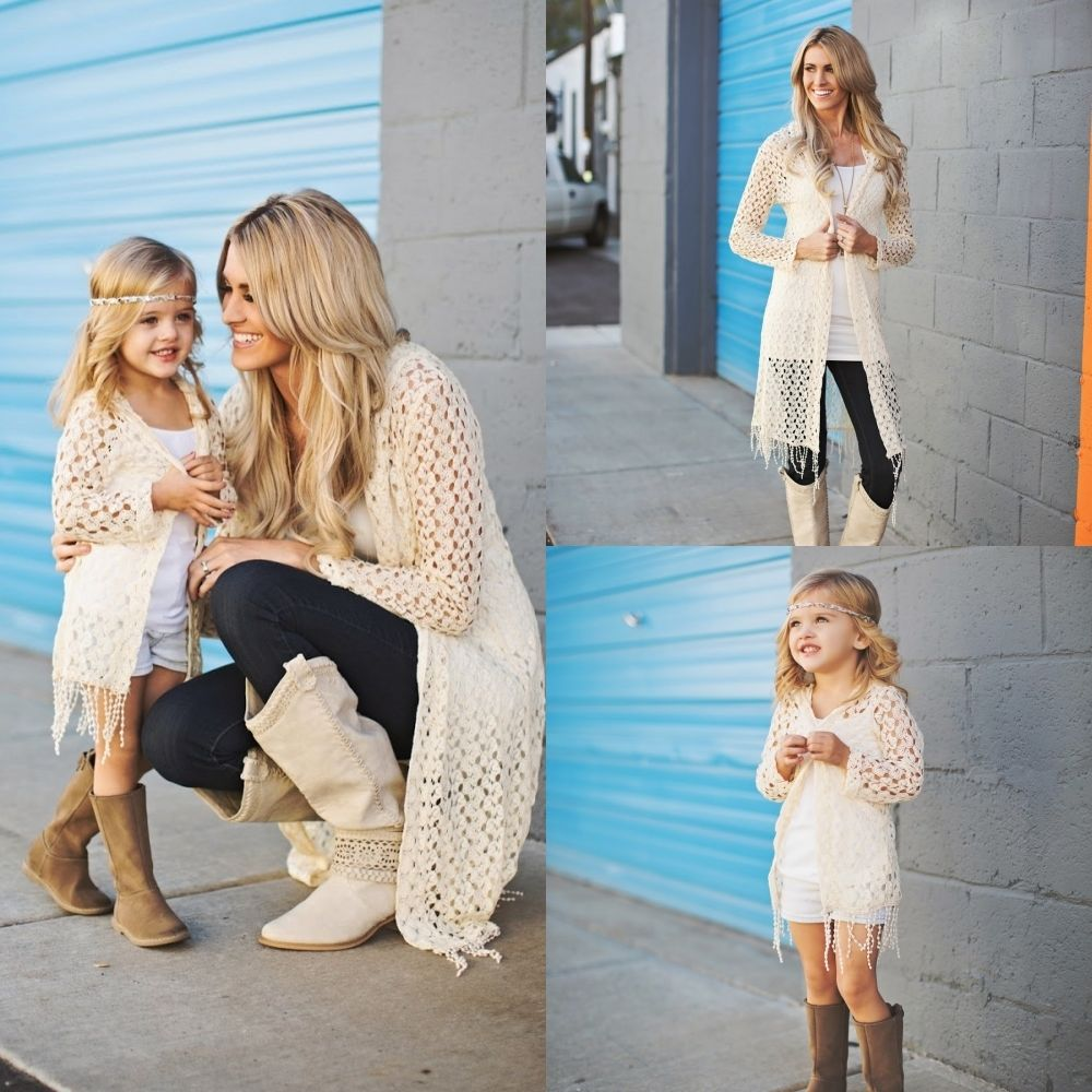 Like Mom - Like Daughter Open sweater
