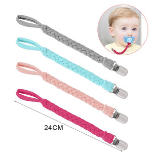 Pacifier clips with safe holder