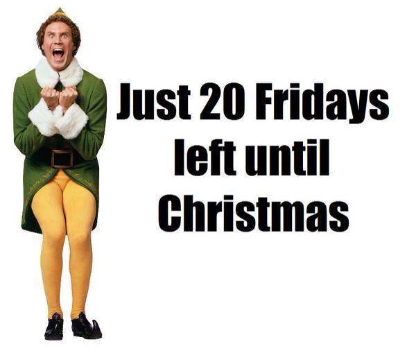 Buddy the Elf Christmas Countdown 2014 Will Farrell Ugly Christmas Sweaters