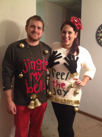 Funny Christmas Sweater Ideas for Couples