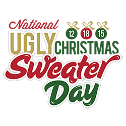 National Ugly Christmas Sweater Day 2015 will be held on Saturday December 19
