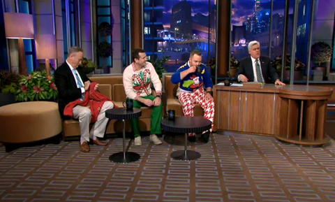 Tonight Show Ugly Christmas Sweaters with Team Ugly Brian Miller and Adam Paulson