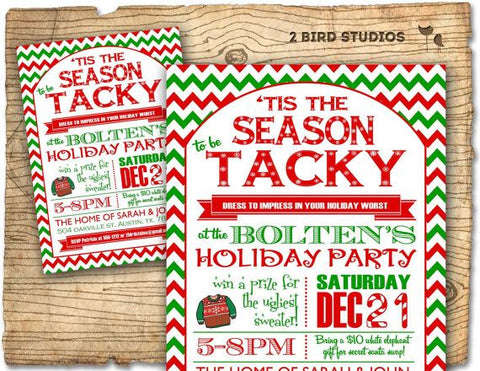 Ugly Sweater Party Invites Ugly Christmas Sweater Party