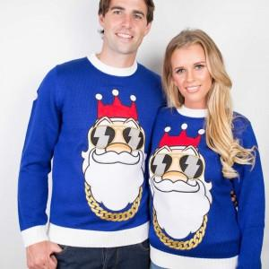 Bling Santa Funny Christmas Sweater