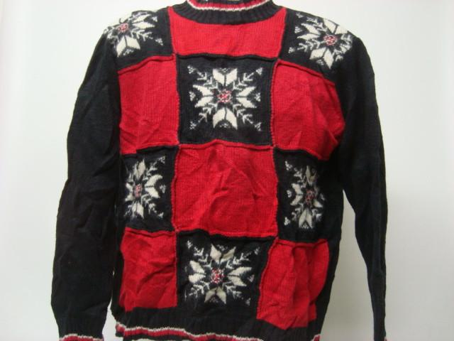 Tacky Small Black Christmas Sweater