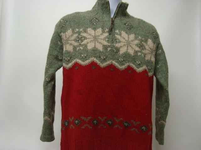 Vintage Ugly Christmas Sweater with Snowflakes