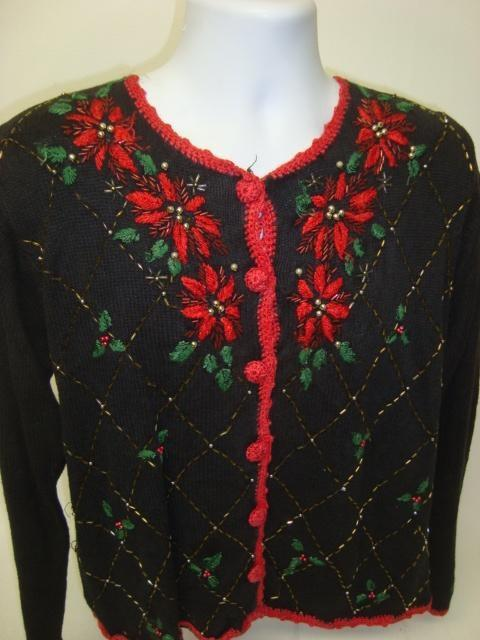 What's the Poinsettia Bro? Tacky Sweater 1366