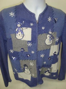 Purple Cheap and Tacky Christmas Sweater from Team Ugly