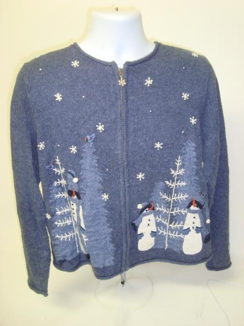 Blue And White Christmas Sweater.A Blue Christmas Tacky Christmas Sweater 6832