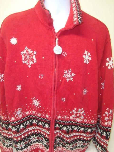 Big Red Ugly Tacky Christmas Sweater 9004