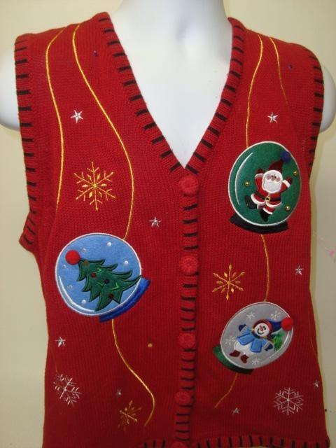 Boston Snow-Globe Ugly Christmas Sweater Vest