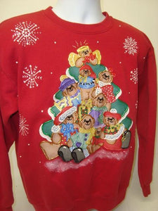 DIY Puffy Paint Pyramid - Ugly Christmas Jumper 9036