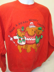 Beary Gibb 80s Christmas Sweatshirt