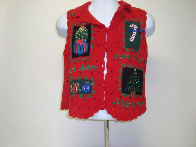 Small Ugly Christmas Sweaters Red Vest