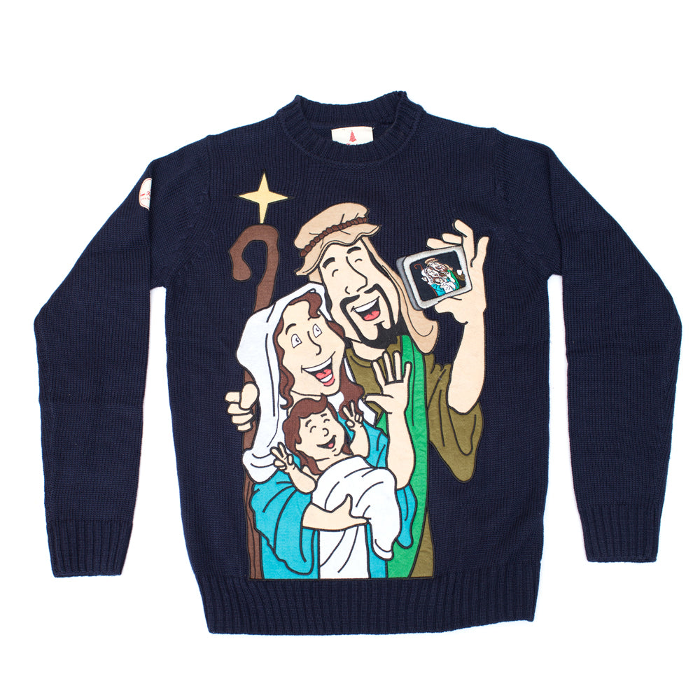 Baby Jesus Mary Joseph Christmas Sweater