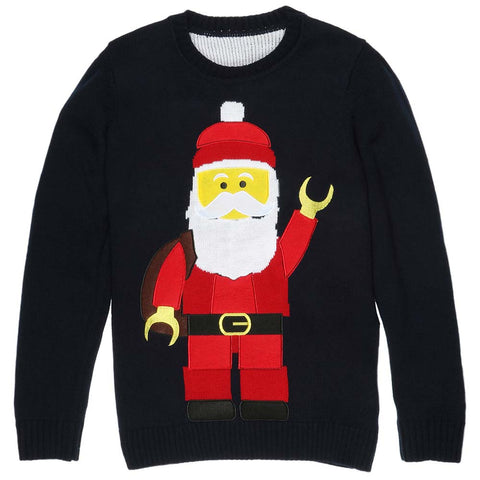 Lego Inspired Santa Christmas Sweater