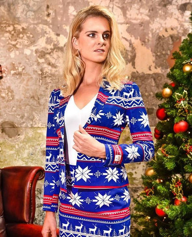 Womens Christmas Suit - Miss Rudolph