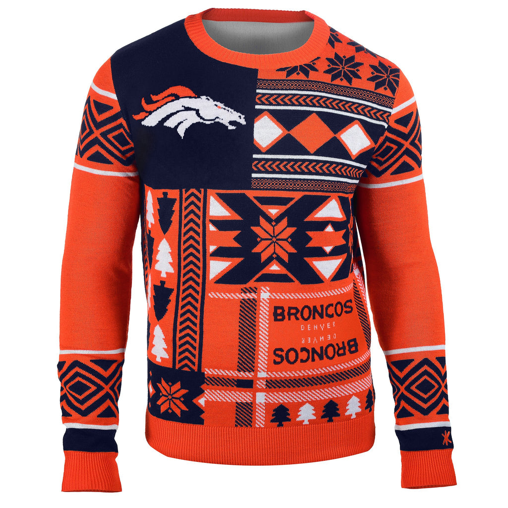 reputable site 19a99 d2f69 Denver Broncos Ugly Christmas Sweaters