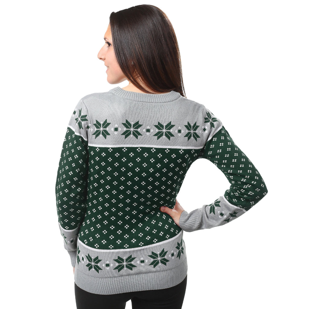 Ohio State Ugly Christmas Sweater.Michigan State Spartans Womens Christmas Sweater