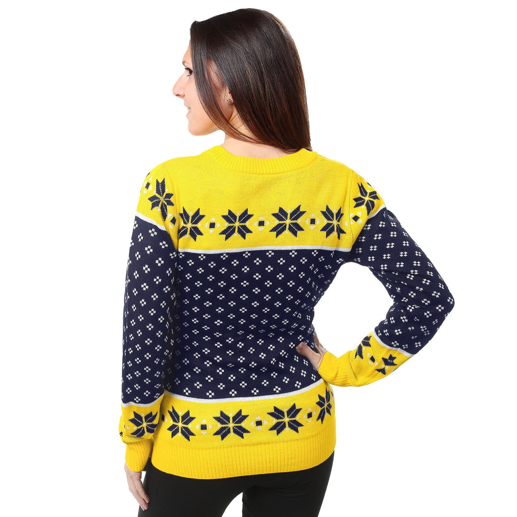 e7cddf422d779 University of Michigan Wolverines Womens Christmas Sweater – Ugly ...