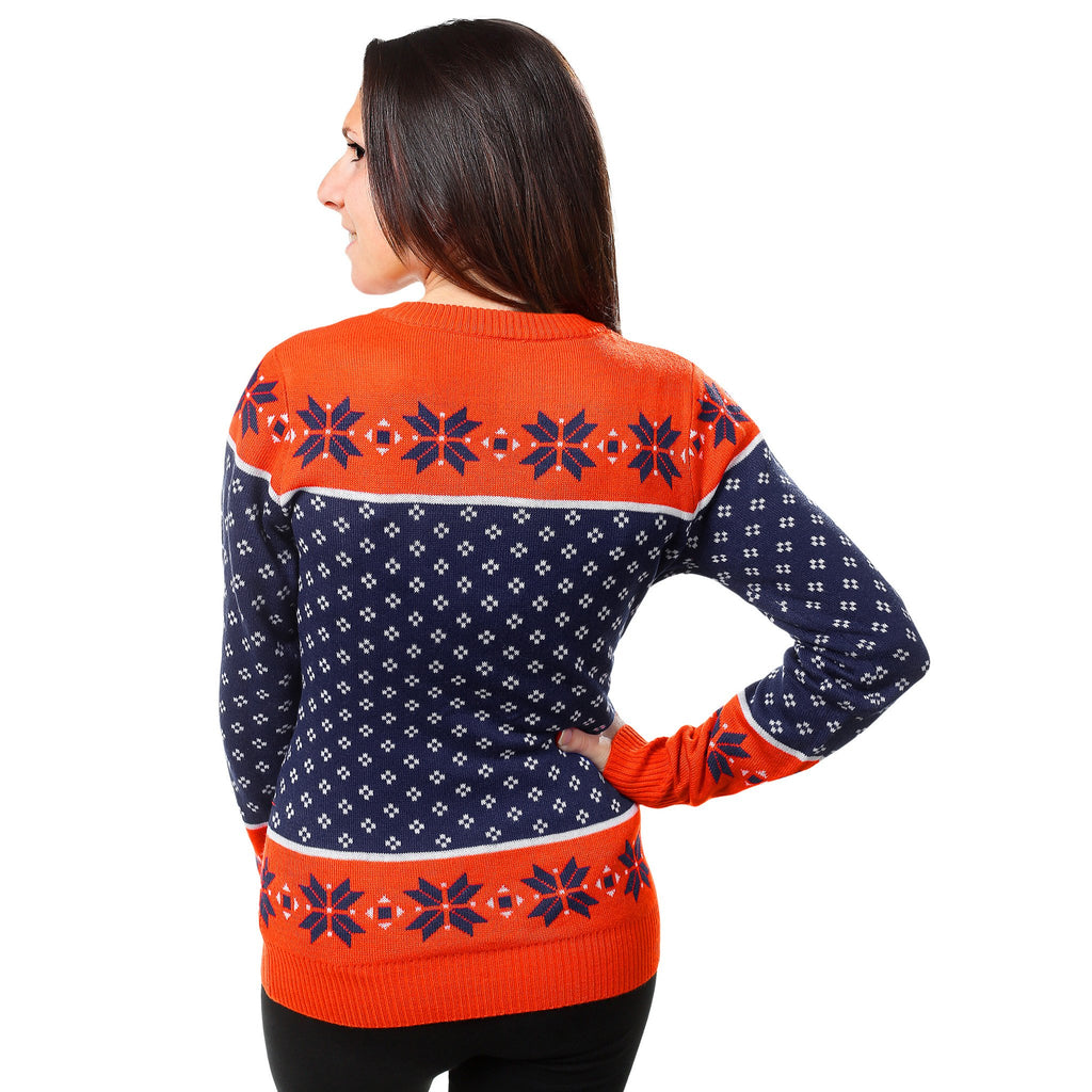 newest 3c6fe 78714 Denver Broncos Womens NFL Christmas Sweater