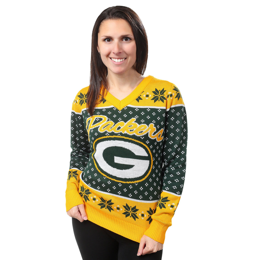 premium selection 20e47 2b934 Green Bay Packers Womens Christmas Sweater