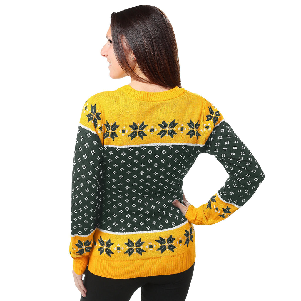 Green Bay Packers Womens Christmas Sweater Ugly Christmas Sweater