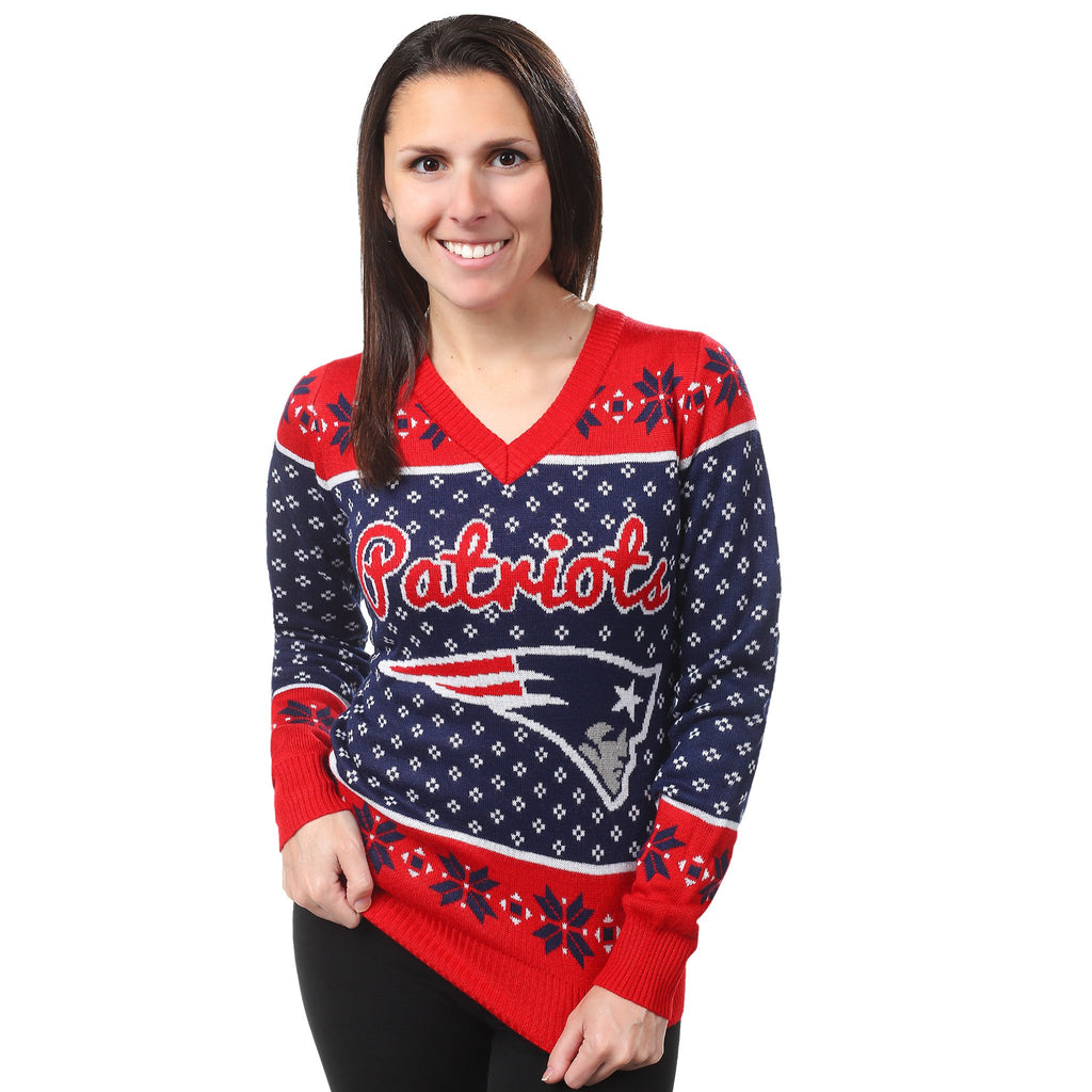 New England Patriots Womens Christmas Sweater