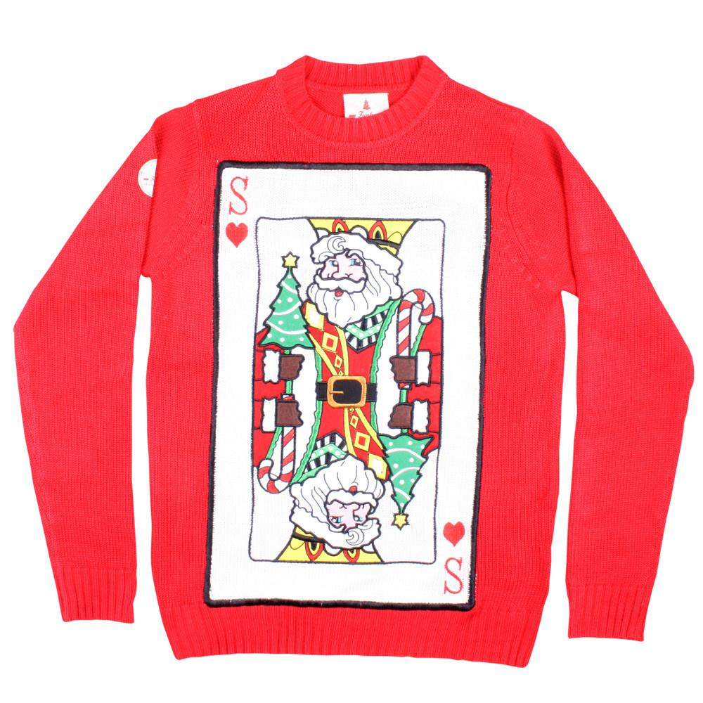 Santa of Hearts Funky Christmas Jumper