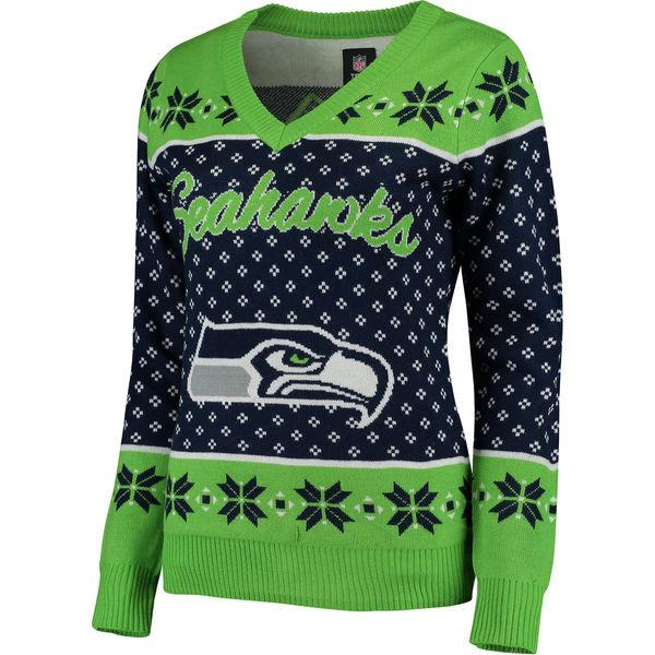 Woman Seattle Seahawks Ugly Christmas Sweater