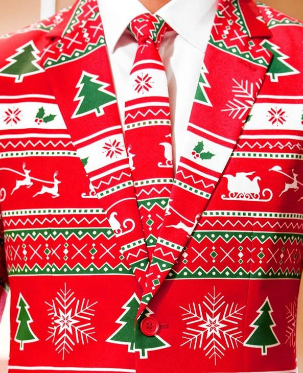 Red Ugly Christmas Sweater Suit Winter Wonderland