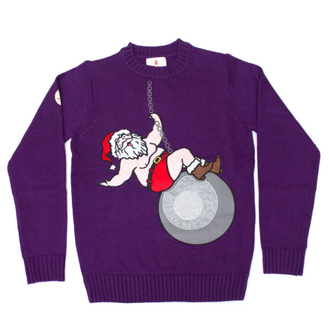 Wrecking Ball Santa Funny Sweater
