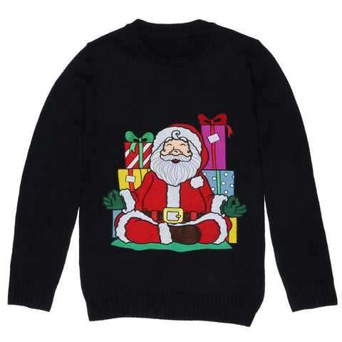 Yoga Santa Christmas Sweater