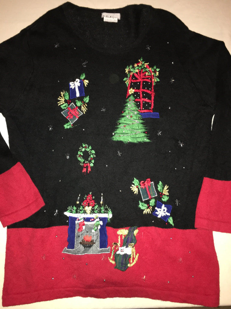 Creepy Kitty Christmas Sweater 1666 – Ugly Christmas Sweater Party