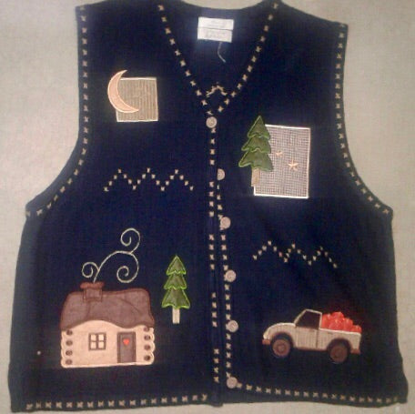 Creep Cabin Christmas - Vintage Sweater 1734