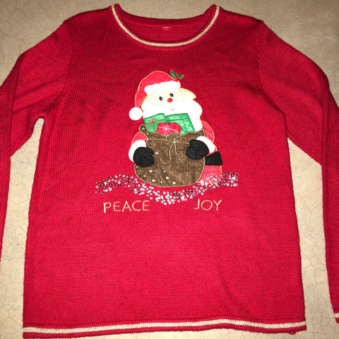Santa's Big Sack Vintage Sweater 1705