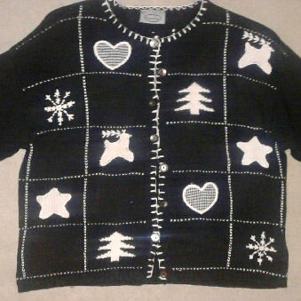 Patch Work Vintage Xmas Sweater 1733