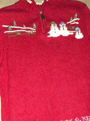 We've Been Waiting for You Vintage Xmas Sweater 1714