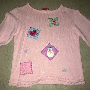 Ugly in Pink Vintage Cheap Christmas Sweater 1715