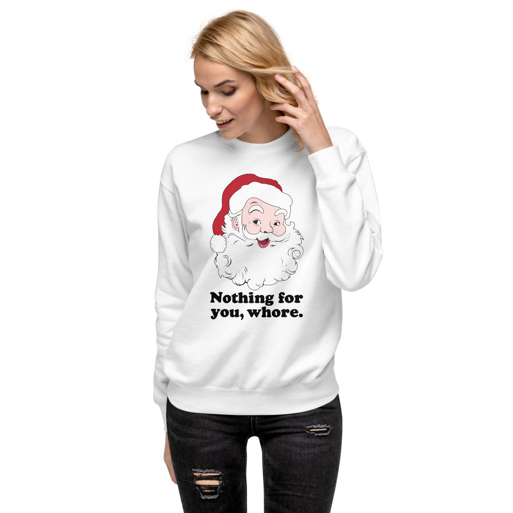Women's Cozy Christmas Fleece Pullover Nothing For You
