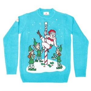 Funny Christmas Sweater Mrs Claus North Pole Dancer