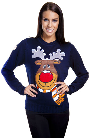 Rudolph Reindeer Ugly Christmas Sweaters