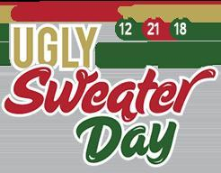 National Ugly Christmas Sweater Day Logo December Date
