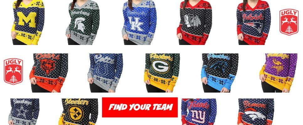 Buy Ugly Bears Colts Packers Broncos Buckeyes Blackhawks Colts Michigan Patriots Ugly Sweaters