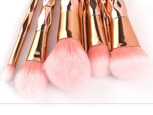 Vibrance Rose Gold Brush Set - Vibrance Cosmetics