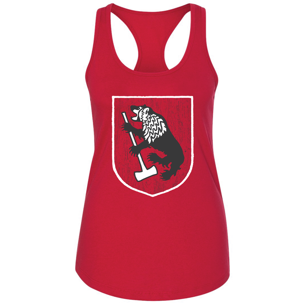 House Scansin, Red, Ladies' Tank