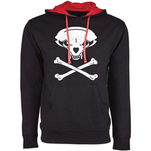 Load image into Gallery viewer, Jolly Badger, Black and Red, Unisex Hoodie