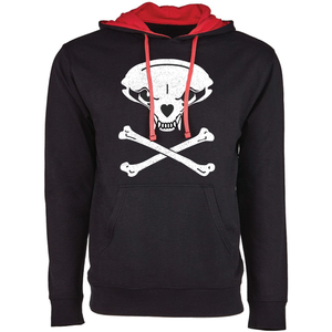 Jolly Badger, Black and Red, Unisex Hoodie